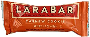 LARABAR Fruit & Nut Food Bar, Cashew Cookie, Gluten Free 1.7 oz Bars(Pack of 16)