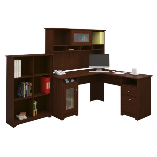 Bush Furniture Cabot L Desk With Hutch And Bookcase Furnitures Sale