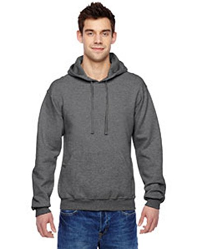 Fruit of the Loom 7.2 oz. SofspunTM Hooded Sweatshirt, XL, CHARCOAL HEATHER (Medias Fruit Of The Loom Black compare prices)