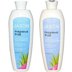 Jason Fragance Free Pure Natural Daily Shampoo, 16 fl oz (Shampoo & Conditioner)