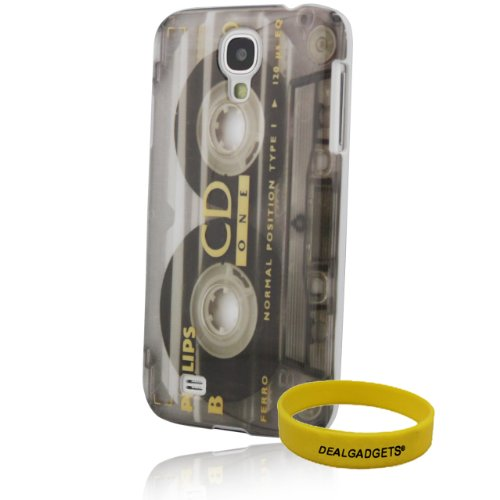 Dealgadgets Samsung Galaxy S4 I9500 Retro Old-Type Cd Magnetic Tape Image Cd Cassette Recorder Style Design Snap-On Hard Back Case Cover (Recorder)