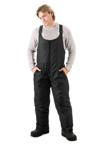 Mossi Black Large Tall Men's Snow Bib