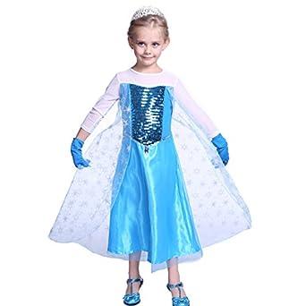 Costume deguisement reine des neiges princesse robe - Deguisement princesse des neiges ...