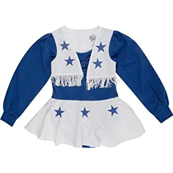 NFL Dallas Cowboys Toddler Cheer Uniform - Navy Blue White by NFL
