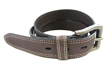 Timberland Dark Brown Boot Cut Leather Belt Size 32