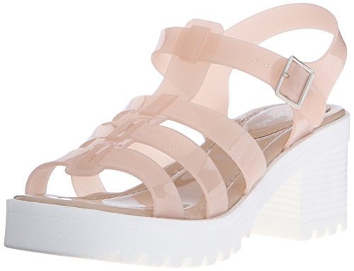 Call It Spring Women's Ceola Heeled Sandal, Light Pink, 7.5 B US (Heeled Jelly Sandals compare prices)