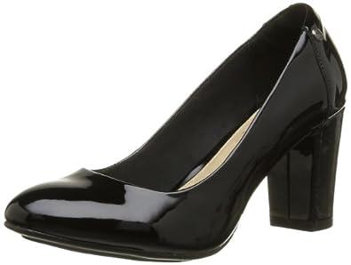 Hush Puppies Womens Sisany Pump Court Shoes Black Schwarz - Noir (Black Patent) Size: 4
