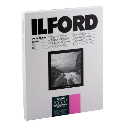 Ilford-Multigrade-IV-RC-Deluxe-Resin-Coated-VC-Variable-Contrast-Black-and-White-Enlarging-Paper-8x10-Inches-25-Sheets-Glossy-Surface-116-8190