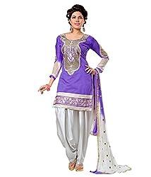 Ethnic For You Women's Cotton Salwar Suit Dress Material(ETH5889_Purple)