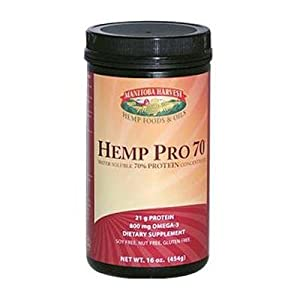 vest Hemp Pro 70 Water Soluble 70 Percent Protein Concentrate - 16 Oz, Pack of 2