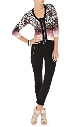 Modern Animal Print Knit Cardigan