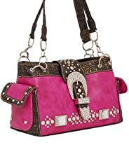 Hot Pink Western Buckle Purse