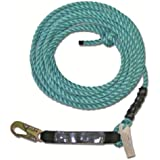 Guardian Fall Protection 01340 VL58-50 Standard 5/8 Inch Thick Rope with Snaphook End, 50-Foot
