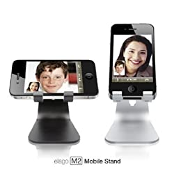 Elago M2 Stand/Dock For iPhone 5/5S/5C/4S Angled Support for FaceTime (Silver)
