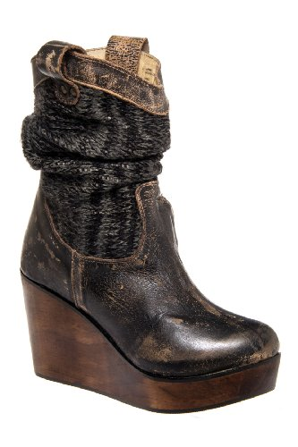 Bed|Stu Bruges Mid Calf High Wedge Boot