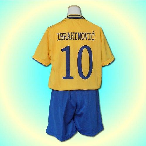 サッカーユニフォーム 【2013モデル】 ◆スウェーデン代表 ホーム イブラヒモビッチ Ibrahimovic 背番号10 ◆レプリカサッカーユニフォーム ◆子供用