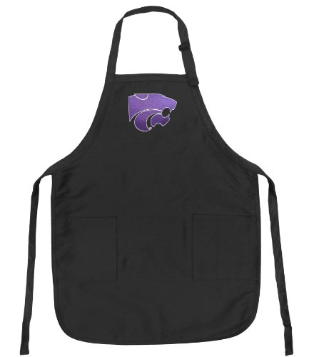 K-State Logo Apron Ncaa College Logo Black Kansas State University Top Rated For Grilling, Barbecue, Kitchen