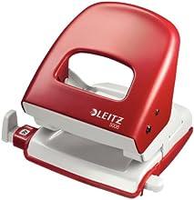 Leitz 50080025 Bürolocher NeXXt, Metall, 30 Blatt, rot