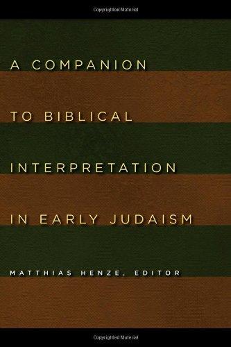 A Companion to Biblical Interpretation in Early Judaism