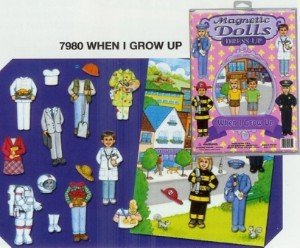 Magnetic Dolls Dress-up When I Grow Up - 1