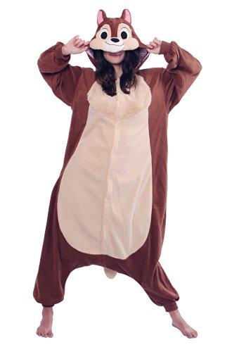 Sazac Chip Kigurumi - Adults Costume front-399266