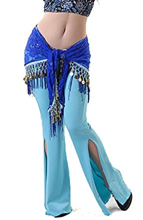 Belly Dance Lace Hip Scarf , Fringe Waist chain hip scarf, Belly dance costume