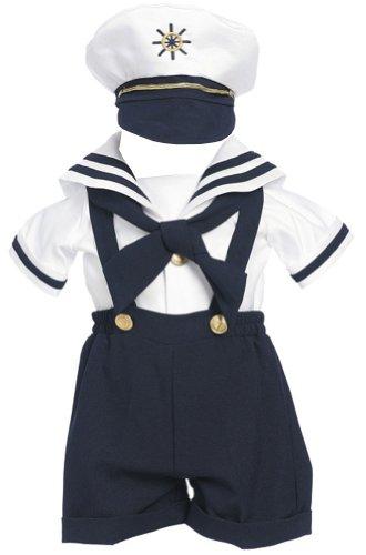 Amj Dresses Inc Navy Baby Boy Formal Party Sailor Short Set Size M