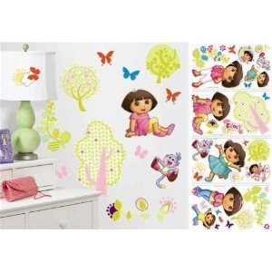 Dora The Explorer 28 Big Wall Stickers Nickelodeon Boots Room Decor Decals Trees