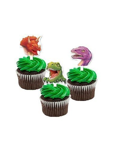 Dinosauro Cup-Cake Toppers (pacchetto di 12)