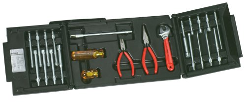 Xcelite 99SMX 23-Piece Series 99 Service Roll Kit with Hard Plastic Case
