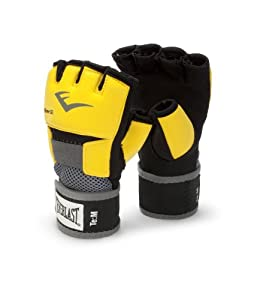 Everlast EverGel Hand Wraps (Yellow, Medium)