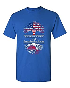 American Grown With Greenlander Roots Greenland Great Gifts - Adult Shirt