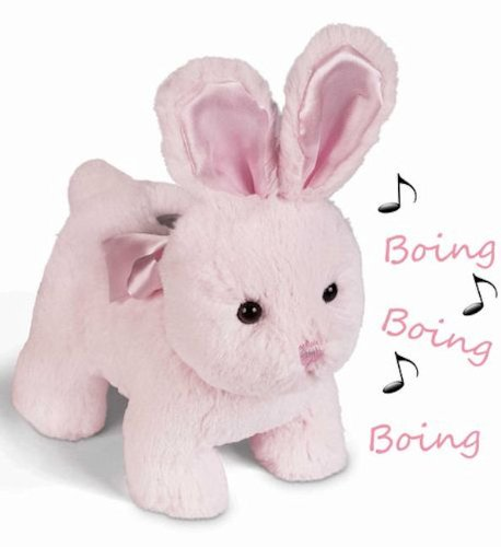 "Cottontail Pink Bunny Musical Bank 9"" by Bearington - 1"