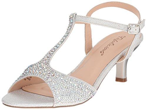 Fabulicious Women's AUD05/Sfa Dress Sandal, Silver Shimmering Fabric, 10 M US