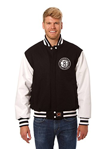 Brooklyn Nets Wool and Leather Varsity Jacket (XXX-Large) (Brooklyn Nets Car Emblem compare prices)