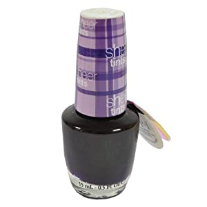 OPI Sheer Tints Color Tinted- Top Coat Nail Lacquer, Don't Violet Me Down