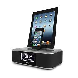 iHome iDL100 Lightning Dock Triple Charging FM Clock Radio with USB Charge/Play iPhone 5/5S 6/6Plus iPad Air /iPad Mini