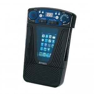 Jensen JiSS-85 Universal Docking AM/FM Shower Radio with LCD Clock for iPod