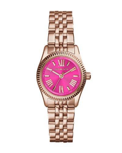 Michael Kors Lexington Petite Pink Dial Rose Gold-Tone Ladies Watch Mk3285