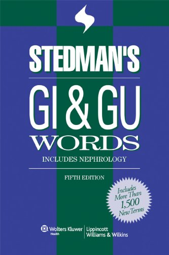 Stedman's GI & GU Words (Stedman's Word Books)