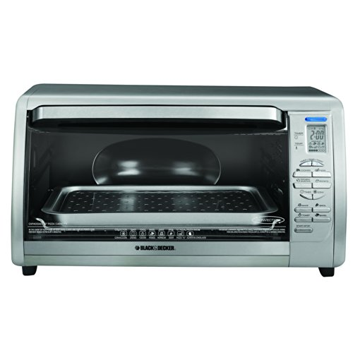 BLACK+DECKER CTO6335S 6-Slice Digital Convection Countertop Toaster ...