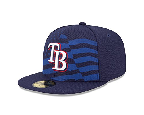 MLB Tampa Bay Rays 2015 AC July 4th Stars and Stripes 59FIFTY Fitted Cap, Blue, 7 1/2