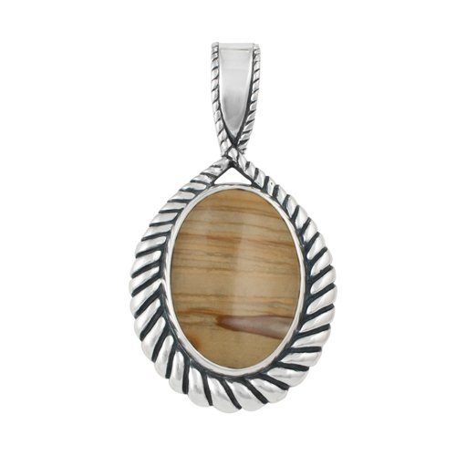Sterling Silver Oregon Owyhee Sunset Jasper Pendant Enhancer