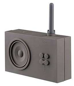 Lexon Tykho Rubber Radio Grey