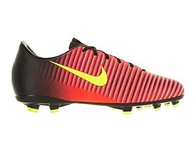 Nike Jr. Mercurial Vapor XI FG Soccer Cleat (Total Crimson, Black)
