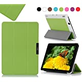 Amazon Kindle Fire HDX 7(2013) Case Cover, Fyy® Ultra Slim Magnetic Smart Cover Case for Kindle Fire HDX 7(2013) Green (With Auto Wake/Sleep Feature)