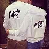 Banggood MR. /MRS. Couple Matching Sweatshirts Pullover Fleece Tops Casual Jumper S-XXL