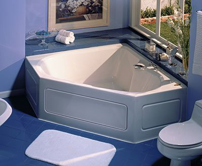 Jacuzzi Trs6060Wcr2Xxa 60-Inch X 60-Inch Tara Drop In Three Wall Alcove Comfort Whirlpool Bathtub With Basic Controls, Center Drain And Right Pump