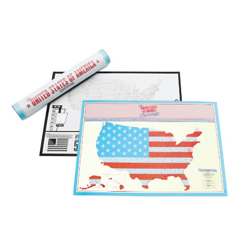 Luckies Scratch Map - Mappa da viaggio USA