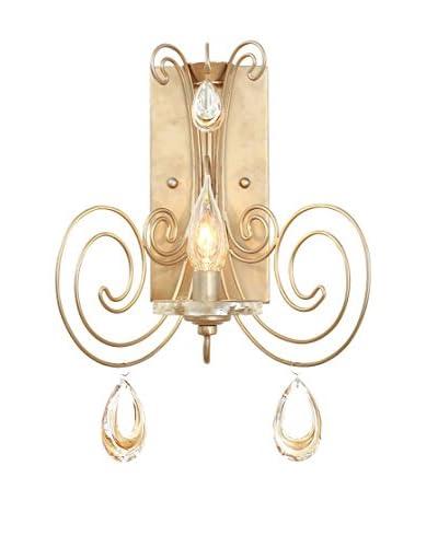 Varaluz Elysse 1-Light Wall Sconce, Gold Dust/Tri-Tone Crystal